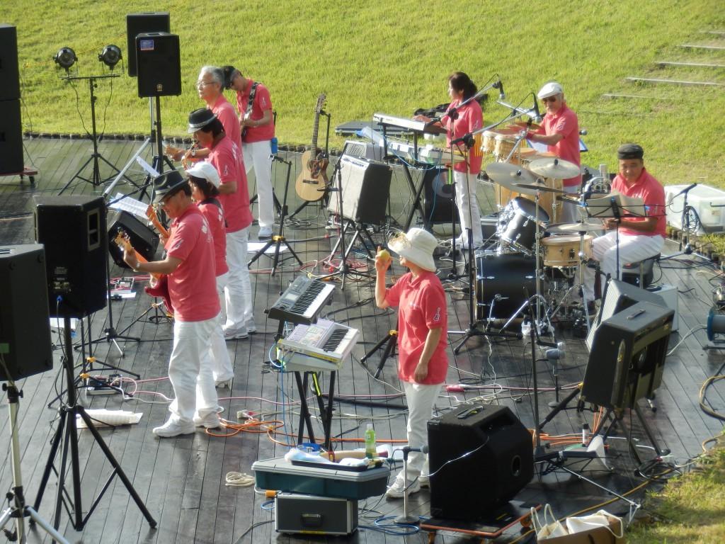 熱帯エレキ楽団@雁晴れコンサート[ビュー広場]福島潟自然文化祭2014(9/23)
